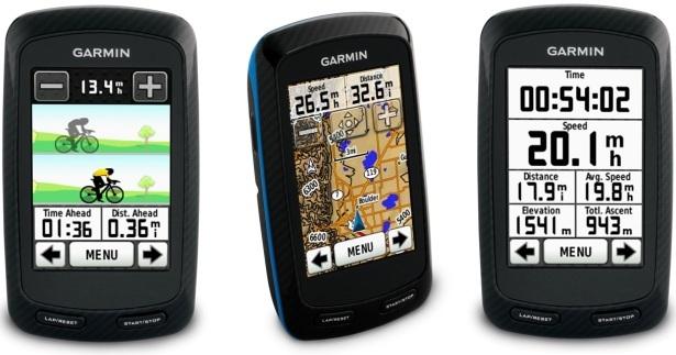 GPS навигатор для велосипедистов Edge 800 от Garmin: сенсорный дисплей, планирование маршрутов и цветные карты
